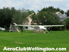 the Wellington Aero Club provides its residents access to on-site aviation gas.